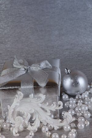 Christmas  gift box and accessories photo