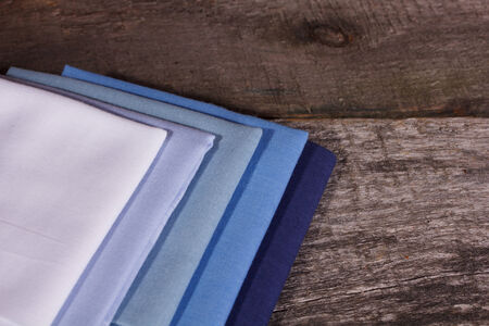 hanky: Set of handkerchiefs lies on the ancient board