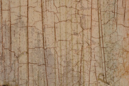craquelure: Wooden board with craquelure, beige and brown Stock Photo