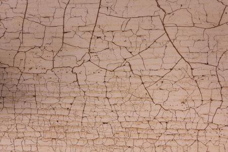 craquelure: Tabla de madera con craquelado, beige y marr�n Foto de archivo