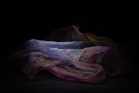 Light purple veil on a dark background Stock Photo
