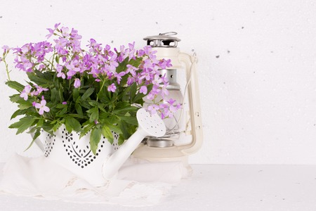 Congratulatory concept with spring flowers and place for text