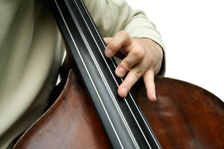 Double bass player photo