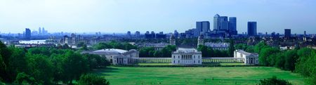 socker: View from the Greenwich Royal Observatory hill Stock Photo