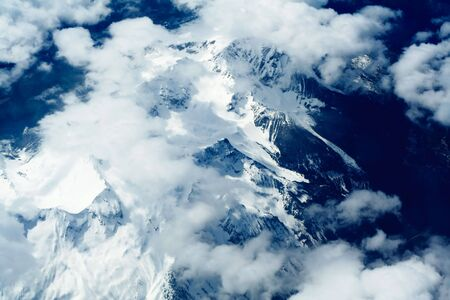 Rocky mountains aerial, North America photo