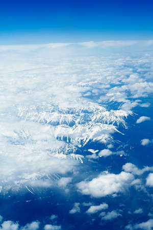 Sky in clouds over Rocky Mountains Stock Photo - 957257