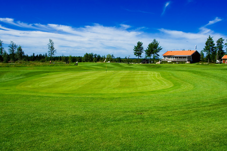 country side: Swedish golf landscape of a country side golf club