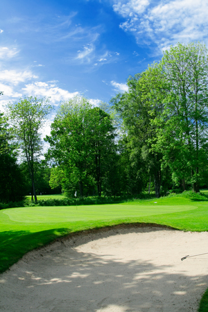 Putting-Green und Sand-trap