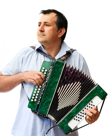 virtuoso: A man with accordion