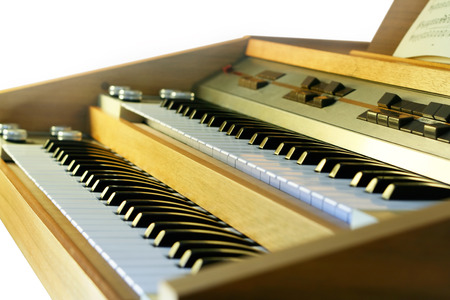 Vintage electronic organ from 70s Stock Photo