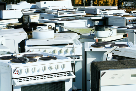 scrap heap: Recycled household appliances