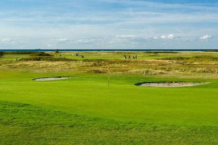 Seaside golf landscape at Falsterbo, Sweden. Lovely day  photo