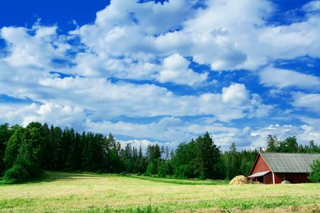country side: Swedish country side scenery Stock Photo