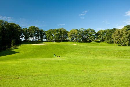 Open golf landscape in Molle, Sweden Stock Photo
