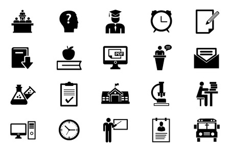 education technology: Education icon set.