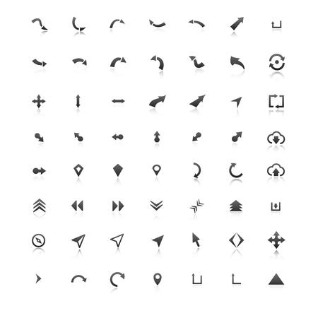 Freccia set di icone. Illustrazione vettoriale, EPS 10