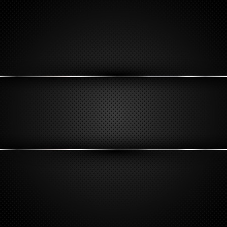 chrome metal: Dark Metal Background. Vector illustration, EPS 10