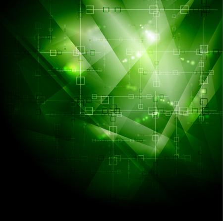 hitech: Green Hi-Tech Vector Background. Vector illustration, EPS 10