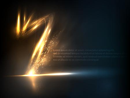 lightning strike: Lightning strike effect background. Vector illustration, EPS 10