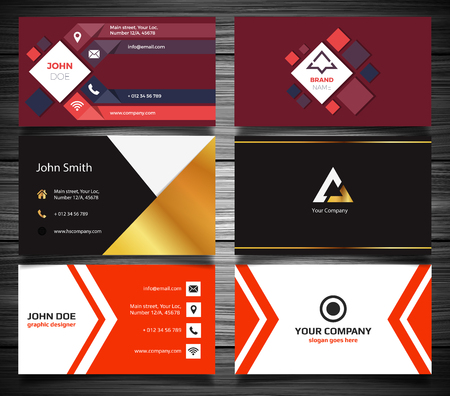 busness: Modern business card set. Vector illustration, EPS 10 Illustration