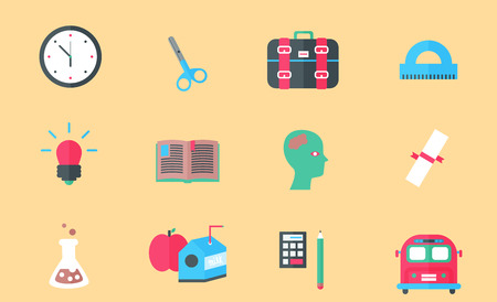 school icon: School and Education Icons. Vector illustration, EPS 10