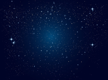 Space Background. Blue colors. Vector illustration, EPS 10