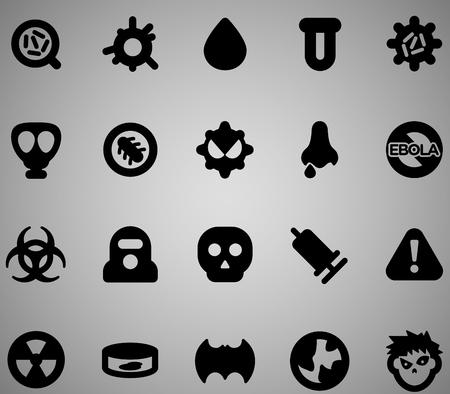 virus icon: Virus icon set. Vector illustration, EPS 10
