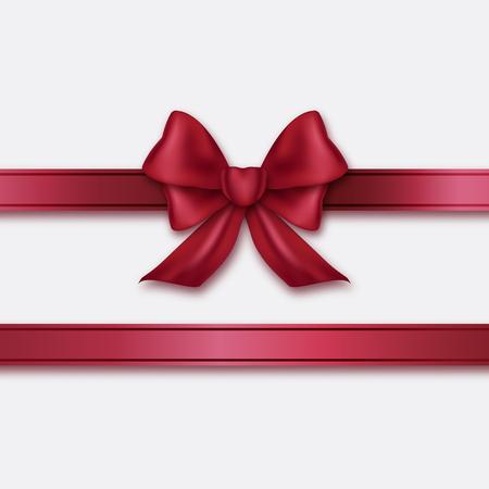 burgundy ribbon: Burgundy ribbon and bow.