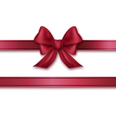 burgundy ribbon: Burgundy ribbon and bow