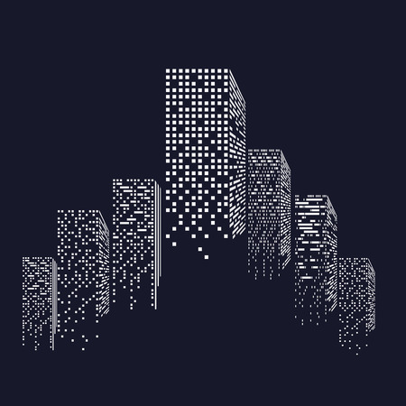 midtown: vector of graphical urban cityscape. Illustration EPS 10 Illustration