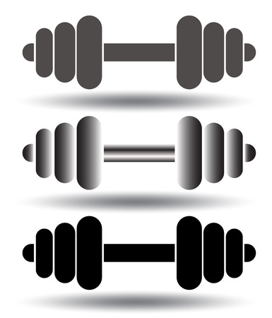 eps vector icon: Barbell icon set. Vector illustration, EPS 10 Illustration