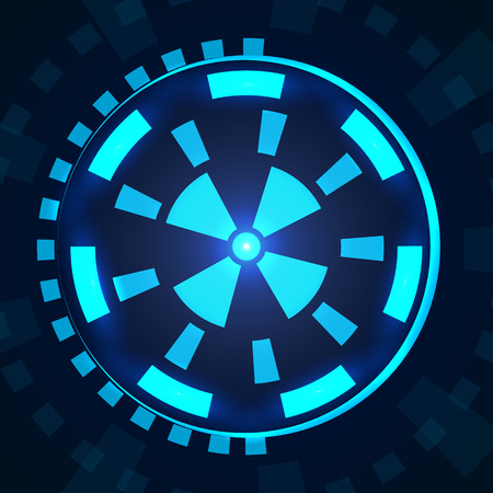 sci fi: Sci fi futuristic user interface HUD. Vector illustration EPS 10