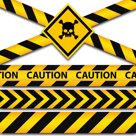 police line: Police line and danger tapes. Vector illustration, EPS 10