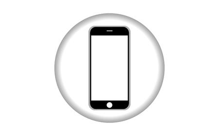 mobile phone icon: smartphone icon mobile phone. vector illustration eps10