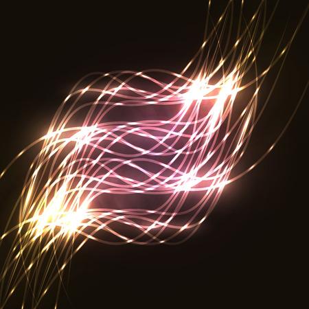 lineas onduladas: fondo de l�neas onduladas. L�neas que brillan intensamente. Ilustraci�n del vector EPS 10 Vectores
