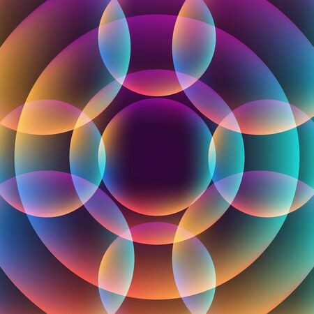 vibrant background: Abstract vibrant background with circles. Colorful theme