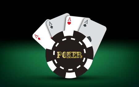 royal house: Poker cards. Vector Casino elements. Poker text