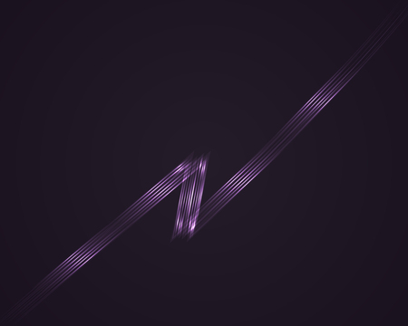 dazzle: Vector Lightning. Glow lines Illustration