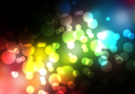 blurry lights: Glittering blurry lights against a black background - abstract vector illustration