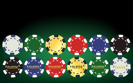 chips stack: Poker chips set. Vector illustration Illustration
