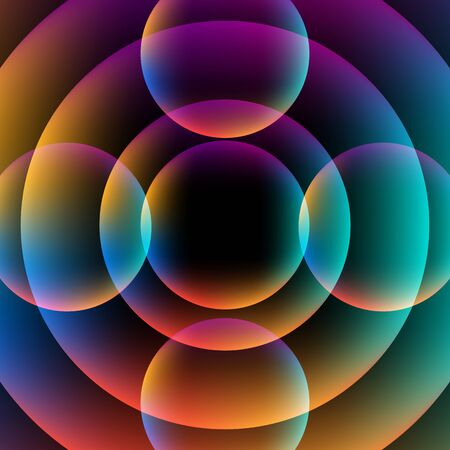 vibrant background: Abstract circle vibrant background. Colorful Sphere. Vector