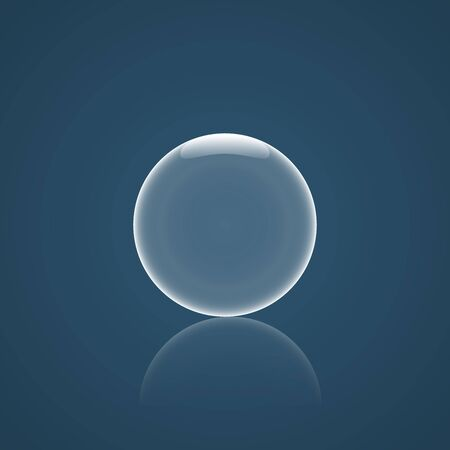 bubble icon: Bubble Icon with reflection and blue background