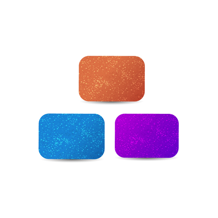 gums: Colorful chewing gums. Realistic chewing gums. Vector illustration