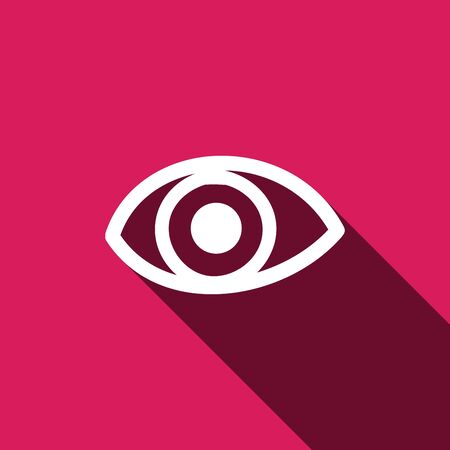 Eye icon. Flat design style. Eye sign. Eye symbol. Vector illustration  イラスト・ベクター素材