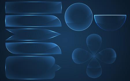 glass buttons: Glass buttons set.  Vector illustration