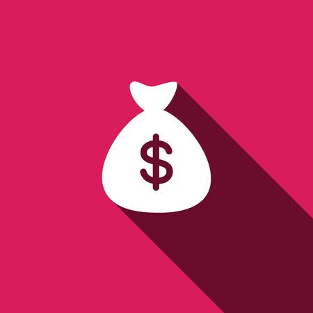 bag icon: Money bag icon. Vector illustration