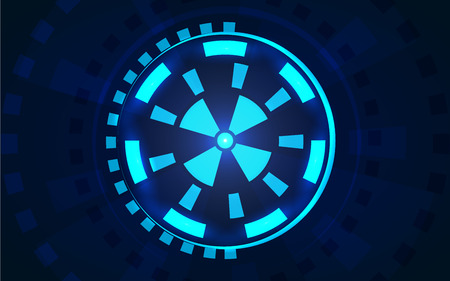 sci fi: Sci fi futuristic user interface HUD. Vector illustration.