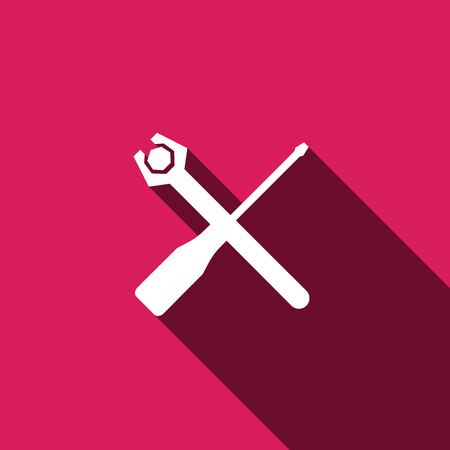 Screwdriver and Wrench icon, Screwdriver and Wrench icon, Screwdriver and Wrench icon vector, Screwdriver and Wrench icon illustration, Screwdriver and Wrench icon jpg