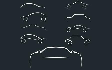 transport logo: Cars logo set. Cars isolated. Transport logo. Vector Illustration EPS 10