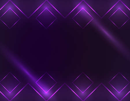 Square Borders with Light Effects. Vector illustration Иллюстрация